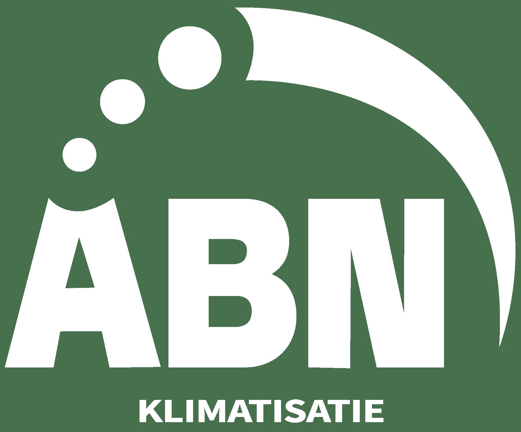 Logo ABN Klimatisatie wit